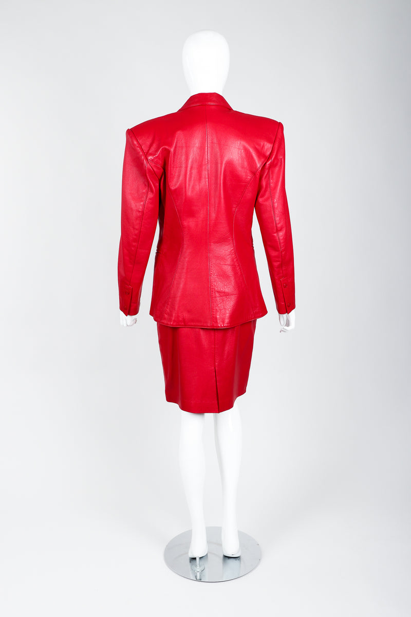 Vintage North Beach Leather by Michael Hoban\ Leather Suit on Mannequin back at Recess