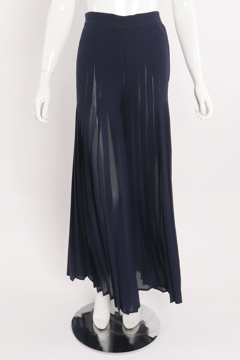 Vintage Mila Schon Sheer Chiffon Palazzo Pant on Mannequin front at Recess Los Angeles
