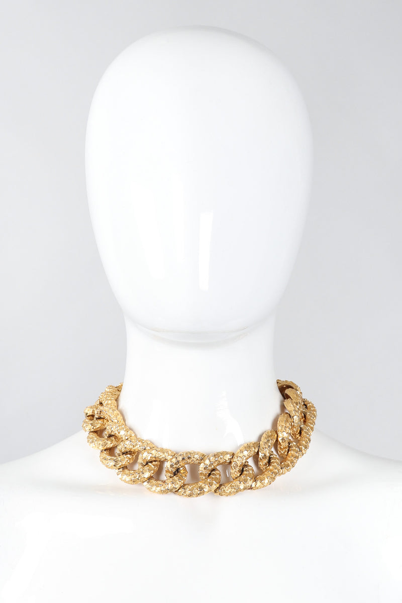 Recess Los Angeles Vintage Mimi Di N Niscemi Textured Curb Chain Collar Nugget Necklace