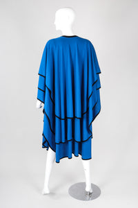 Recess Los Angeles Vintage Mimi Trujillo Layered Waterfall Petal Wool Knit Cape