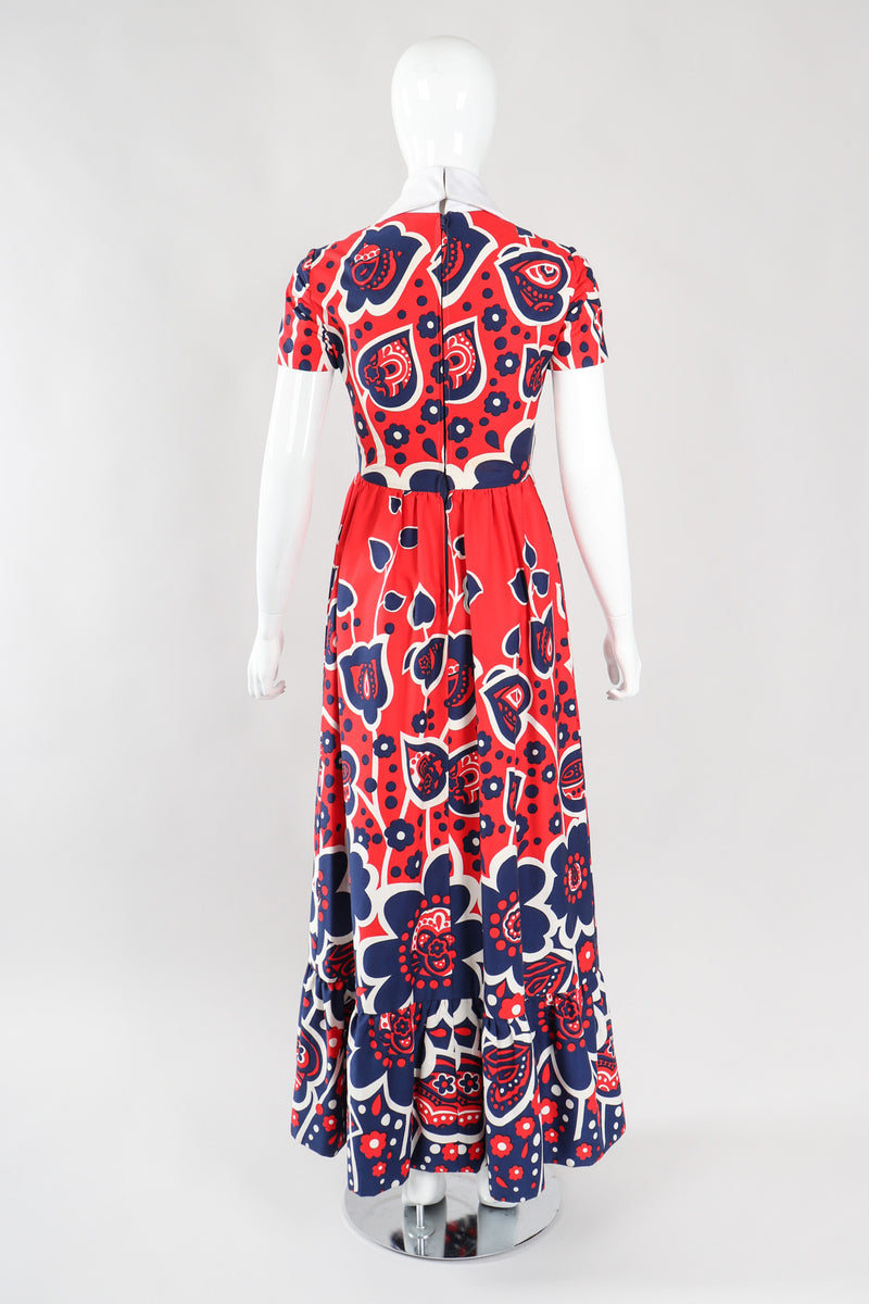 Recess Los Angeles Vintage Oscar de la Renta Shawl Collar Floral Dress
