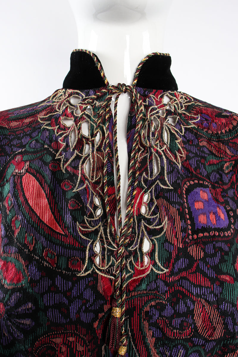 Vintage Miss O Oscar de la Renta Floral Paisley Blouse & Skirt Set on Mannequin neck @ Recess LA