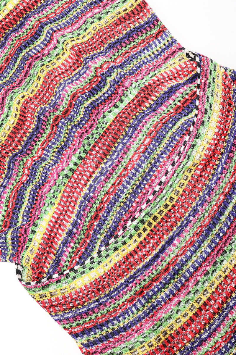 Recess Designer Consignment Vintage Missoni Rainbow TV Static Color Bars Knit Dress Los Angeles Resale