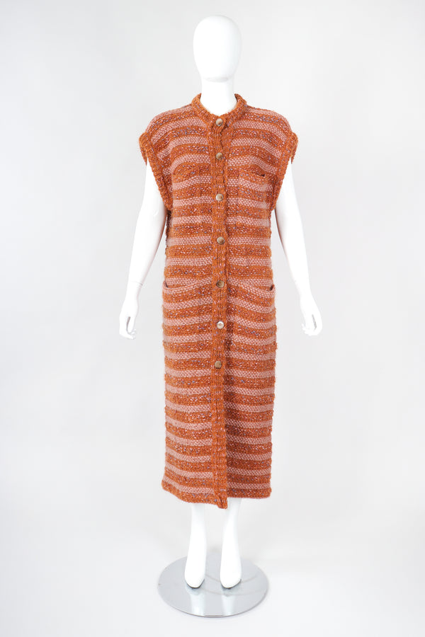 Recess Designer Consignment Vintage Missoni Long Striped Knit Sweater Vest Duster Los Angeles Resale