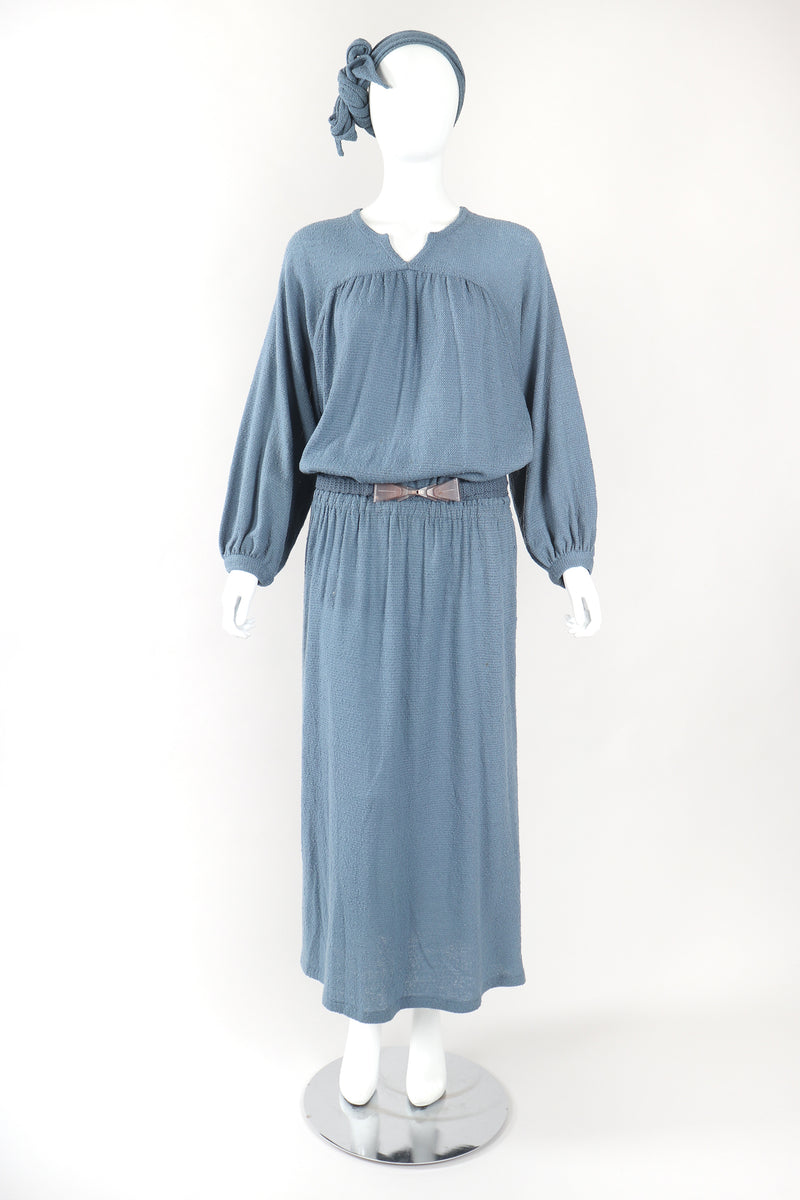 Recess Designer Consignment Vintage Missoni Fiamma Knit Peasant Dress Los Angeles Resale