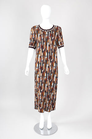 Recess Los Angeles Vintage Missoni Ikat Knit Midi Sweater Dress