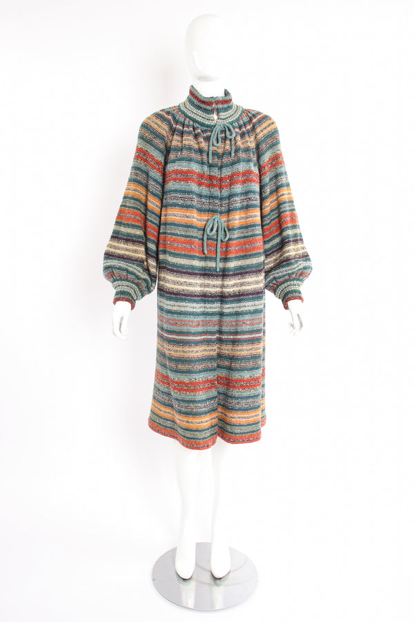 Vintage Missoni Balloon Sleeve Sweater Duster on Mannequin front at Recess Los Angeles