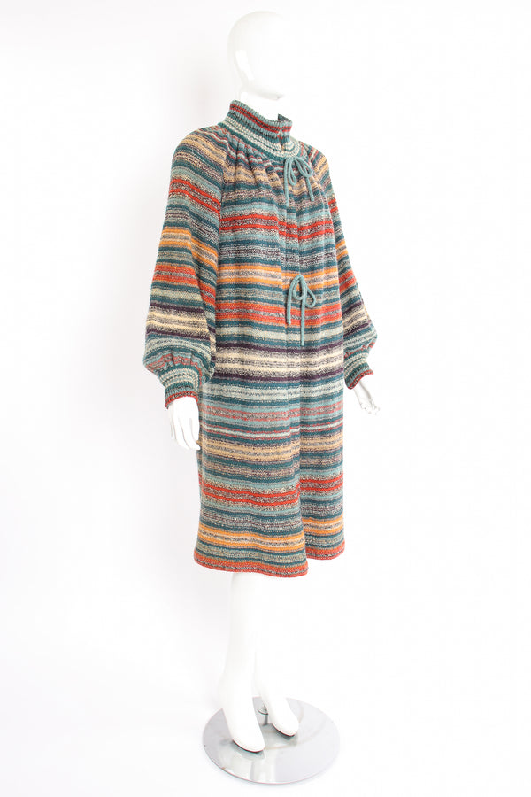 Vintage Missoni Balloon Sleeve Sweater Duster on Mannequin angle at Recess Los Angeles