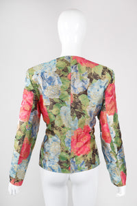 Recess Los Angeles Vintage Mondi Hot Floral Brocade Jacket & Skirt Set