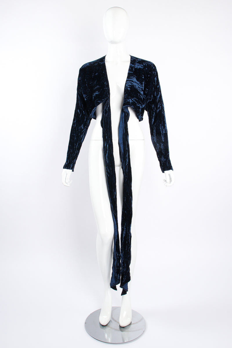 Vintage Morgane Le Fay Crushed Velvet Top Set on Mannequin front at Recess Los Angeles