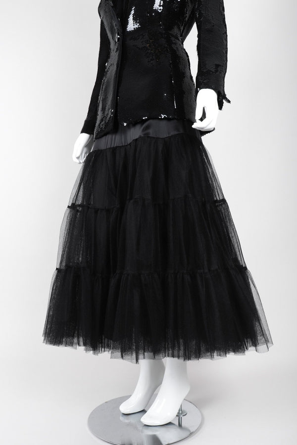 Recess Los Angeles Vintage Morgane Le Fay Tiered Silk Tulle Mesh Petticoat Ballet Skirt