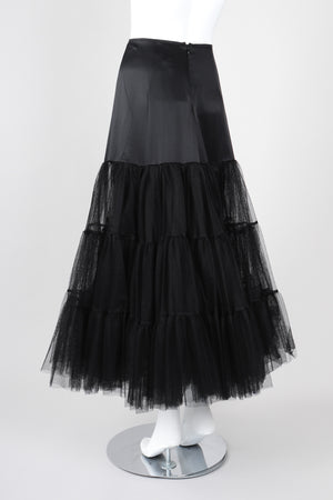 Recess Los Angeles Vintage Morgane Le Fay Tiered Silk Tulle Mesh Petticoat Skirt
