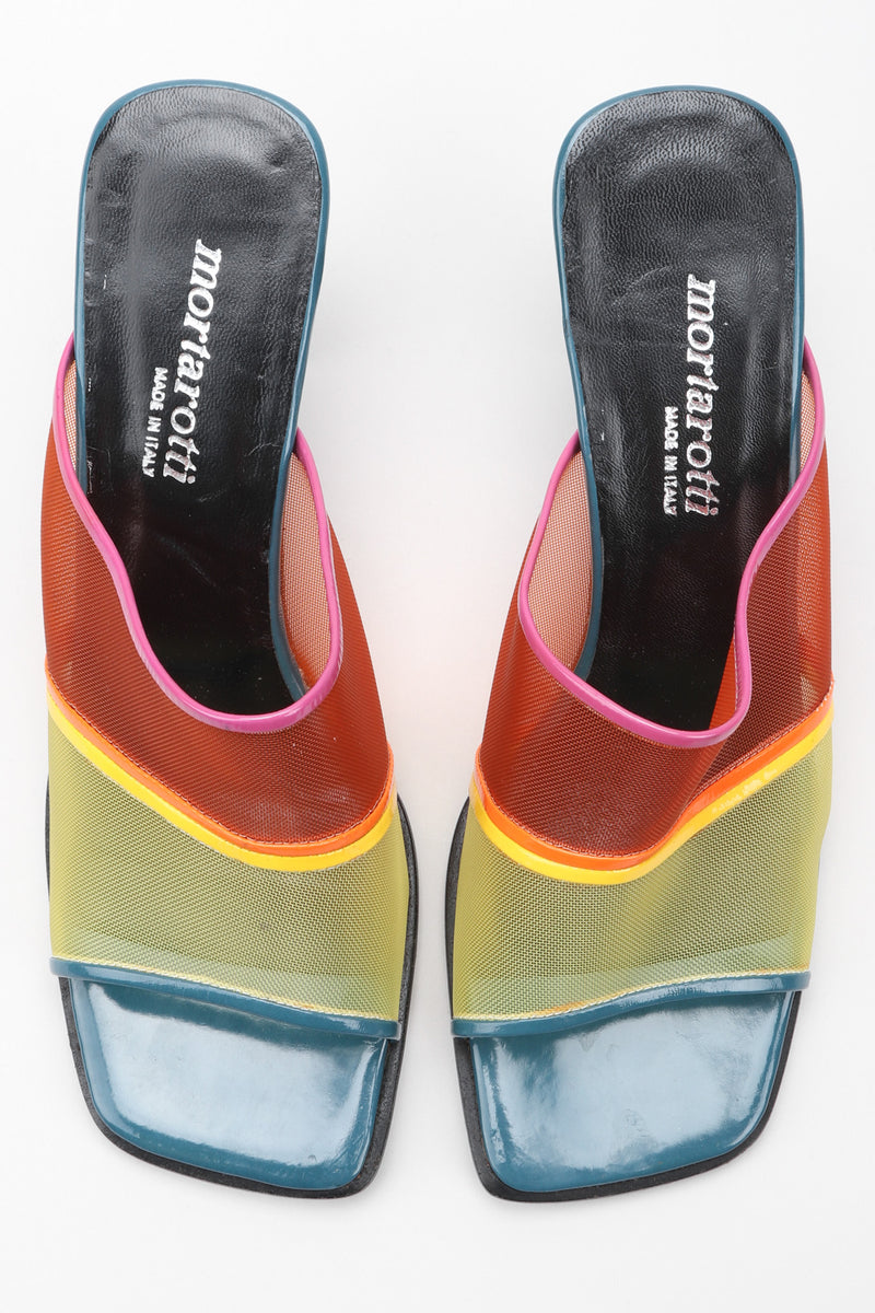 Recess Los Angeles Vintage Mortarotti Rainbow Mesh Mule Slide Sandals
