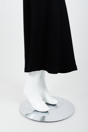 Vintage Moschino Cheap And Chic O-Ring Mermaid Skirt on Mannequin hem At Recess Los Angeles