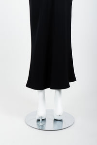 Vintage Moschino Cheap And Chic O-Ring Mermaid Skirt on Mannequin hem back At Recess Los Angeles