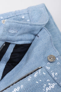 Recess Los Angeles Vintage Moschino Sequins Light Wash Denim