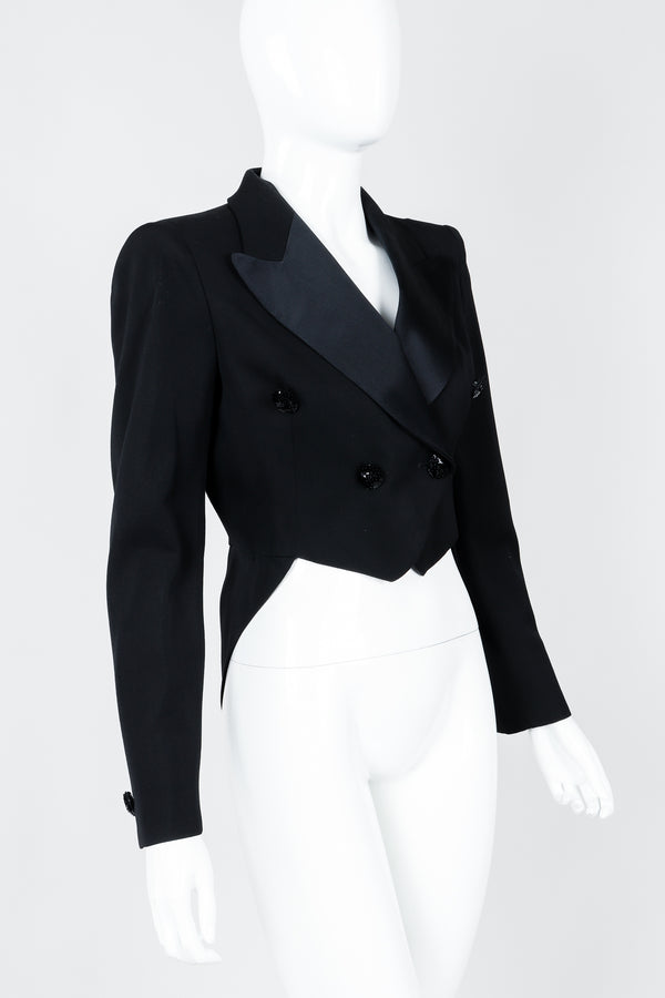 Vintage Moschino Cropped Tailcoat on Mannequin cropped, at Recess Los Angeles