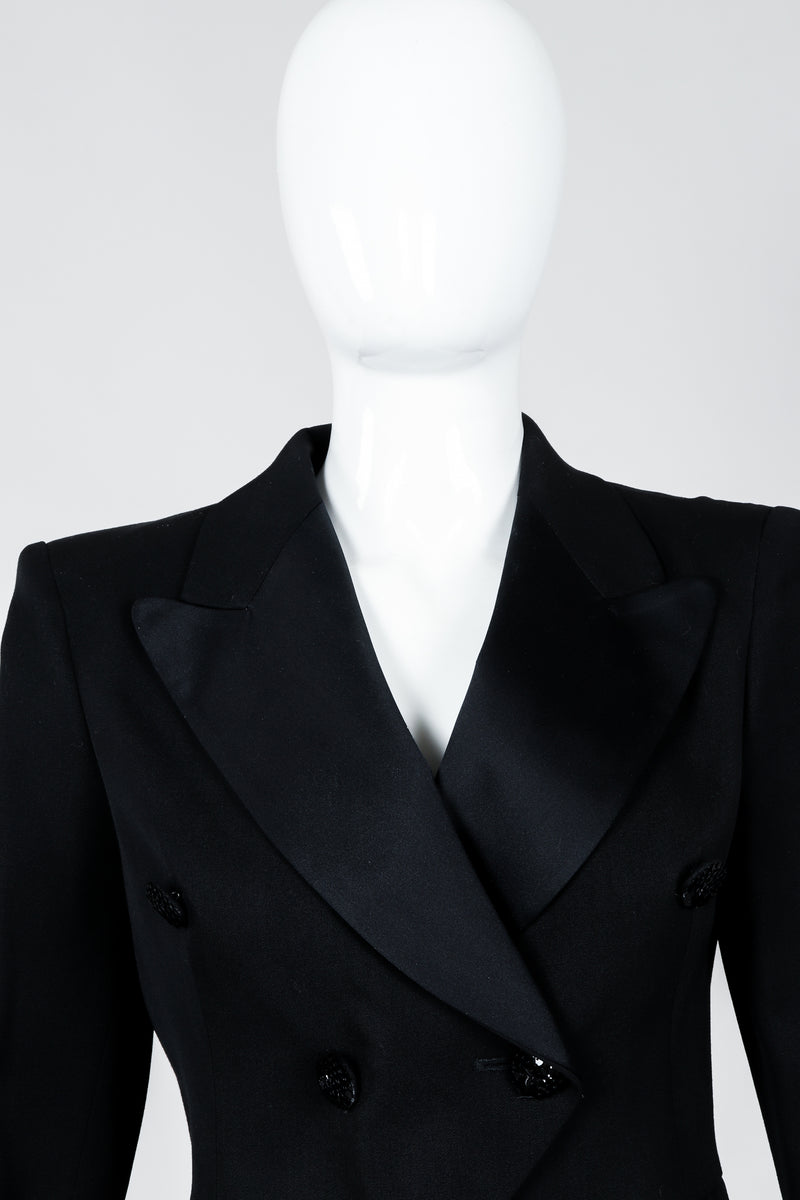 Vintage Moschino Cropped Tailcoat on Mannequin neckline, at Recess Los Angeles