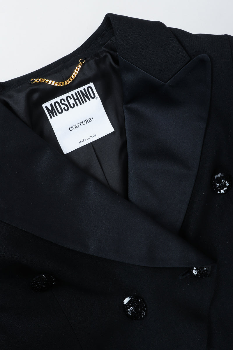 Vintage Moschino Cropped Tailcoat Collar and Neckline at Recess Los Angeles