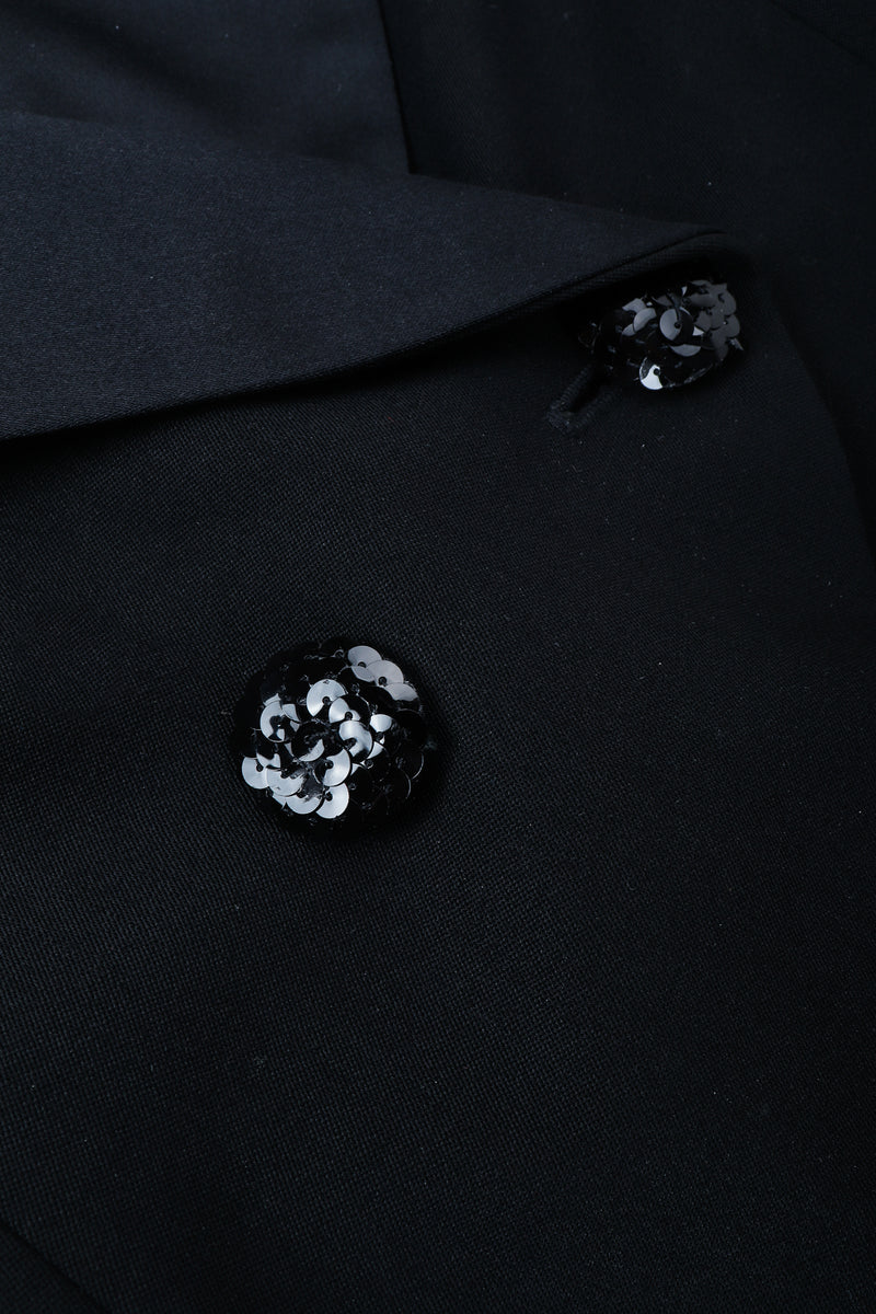 Vintage Moschino Cropped Tailcoat Sequined button detail