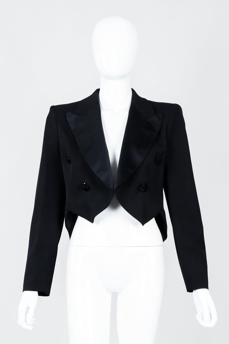 Vintage Moschino Cropped Tailcoat on Mannequin open, at Recess Los Angeles
