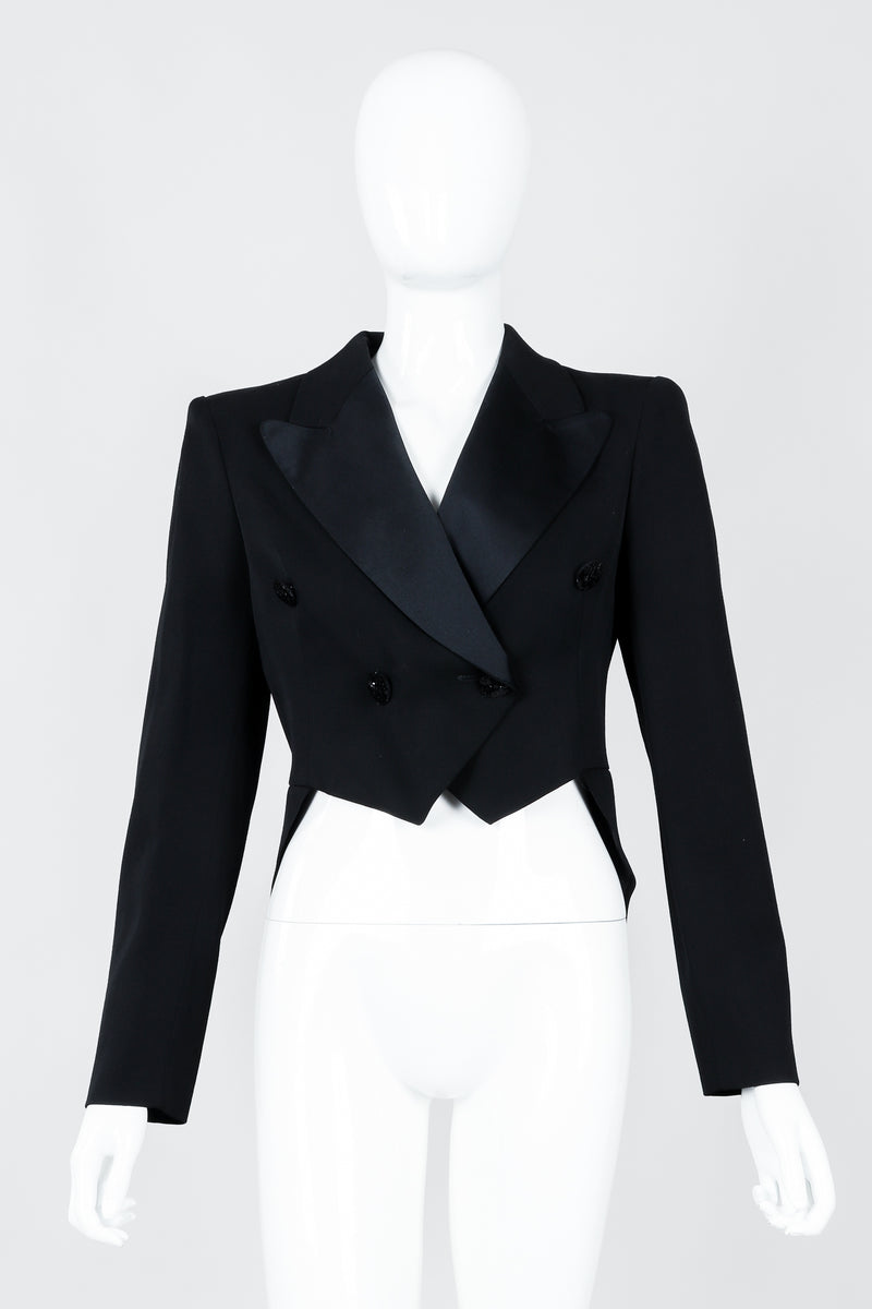 Vintage Moschino Cropped Tailcoat on Mannequin front, at Recess Los Angeles