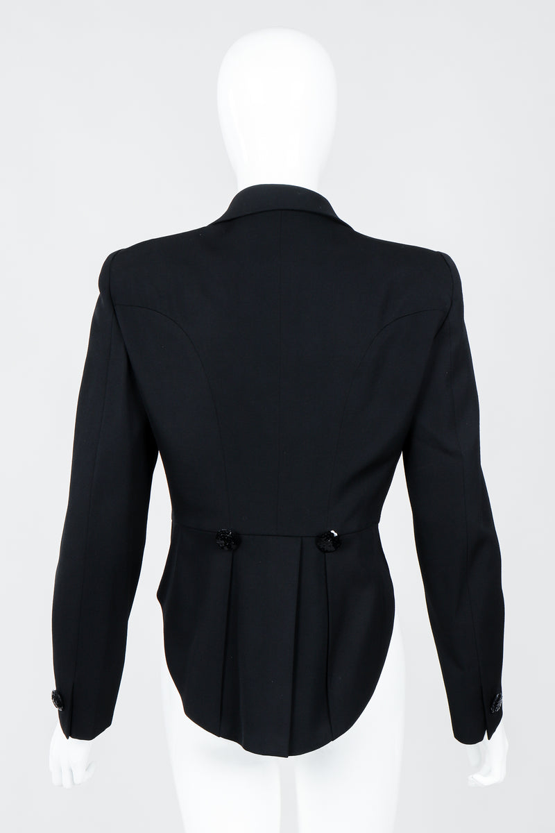 Vintage Moschino Cropped Tailcoat on Mannequin back, at Recess Los Angeles