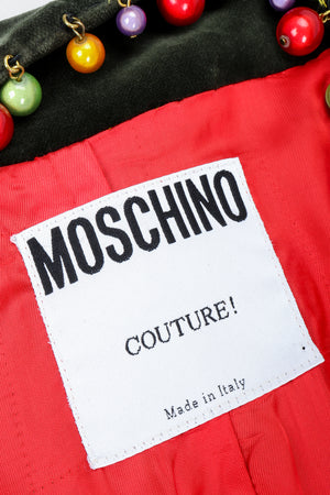 Recess Vintage Moschino Label on Red Fabric