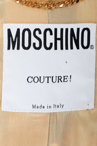 Vintage Moschino Tapestry Collage India Jacket label on lining
