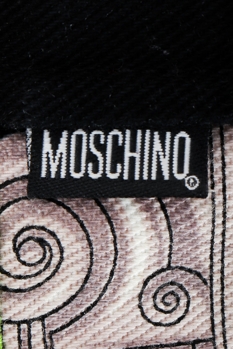 Vintage Moschino Twill Vegas Slots Vest label on outside