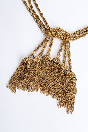 Vintage Moschino Gold Tassel Chain Belt Necklace detail at Recess Los Angeles