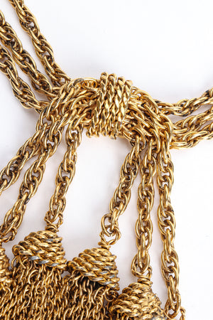 Vintage Moschino Gold Tassel Chain Belt Necklace center at Recess Los Angeles