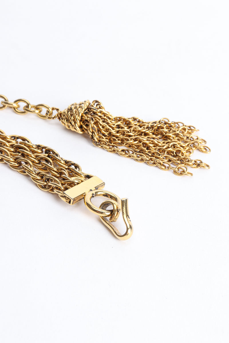 Vintage Moschino Gold Tassel Chain Belt Necklace Closure at Recess Los Angeles