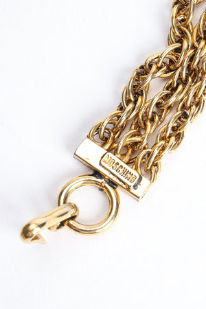 Vintage Moschino Gold Tassel Chain Belt Necklace Signature Cartouche at Recess Los Angeles
