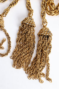 Vintage Moschino Gold Tassel Chain Belt Necklace Tassel Wear at Recess Los Angeles