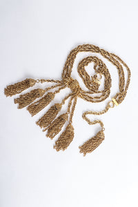 Vintage Moschino Gold Tassel Chain Belt Necklace at Recess Los Angeles