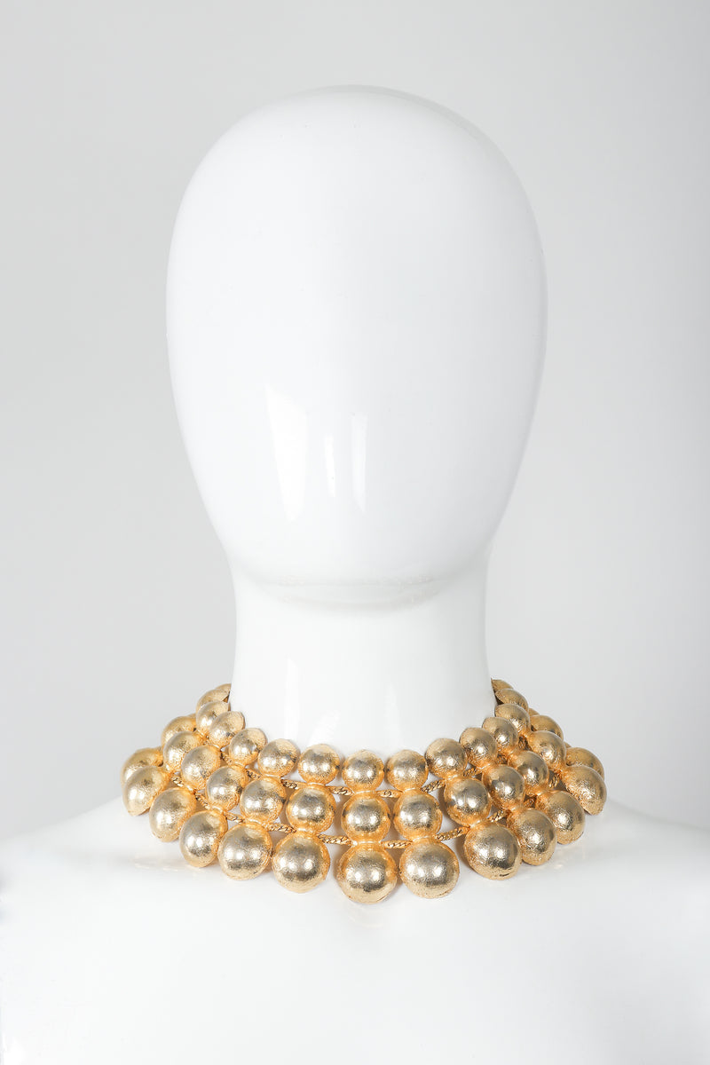 Gold Foil Dome Collar Necklace