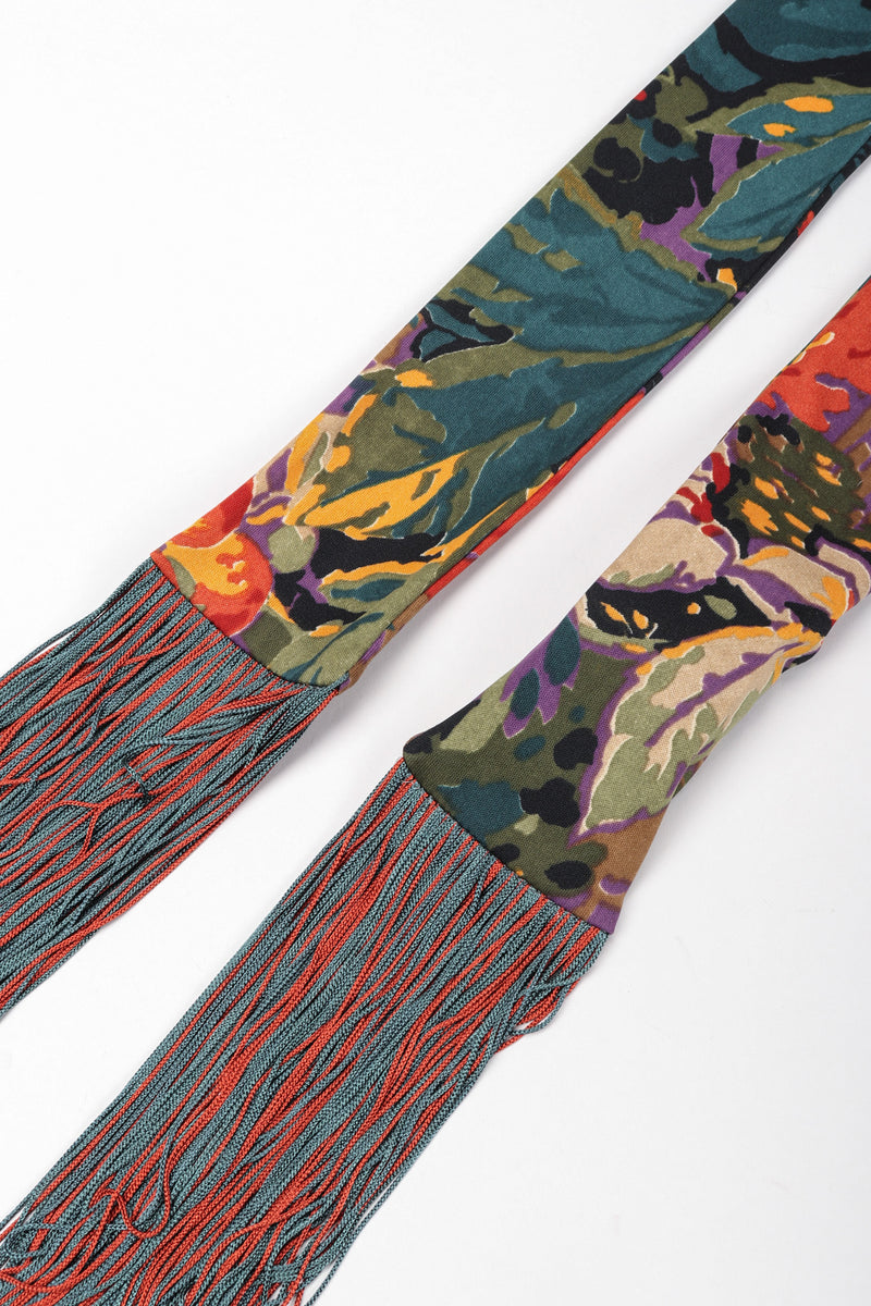 Recess Los Angeles Vintage Mr. Blackwell Floral Fringe Dress Piano Shawl & Scarf 3-pc Set Missoni
