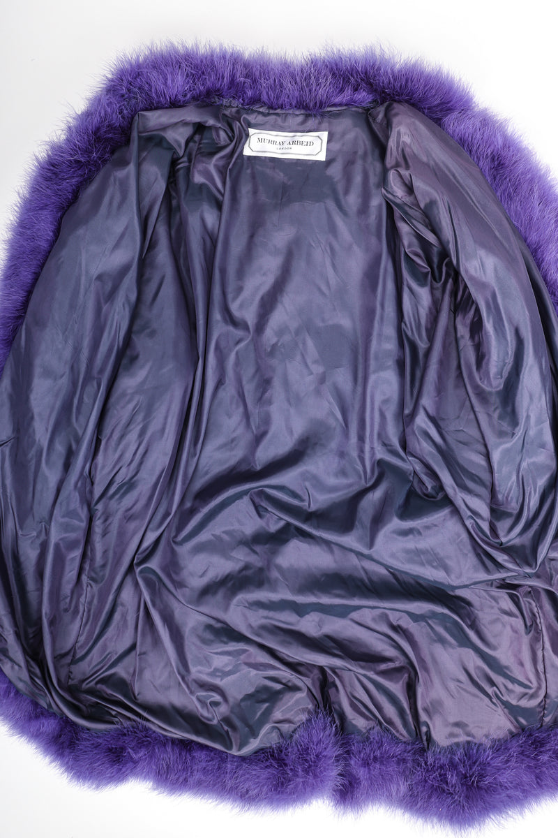 Recess Designer Consignment Vintage Murray Arbeid Rockstar Marabou Batwing Duster Coat Los Angeles Resale