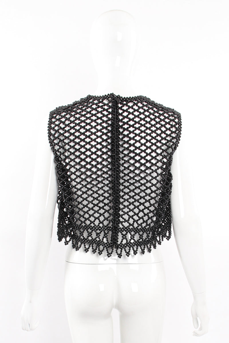 Vintage 60s Bead Mesh Boxy Top on Mannequin back at Recess Los Angeles