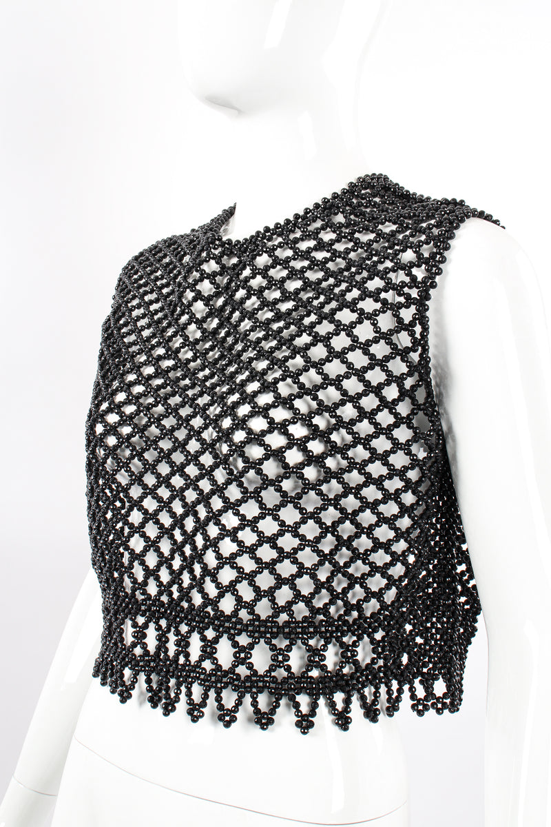 Vintage 60s Bead Mesh Boxy Top on Mannequin crop at Recess Los Angeles