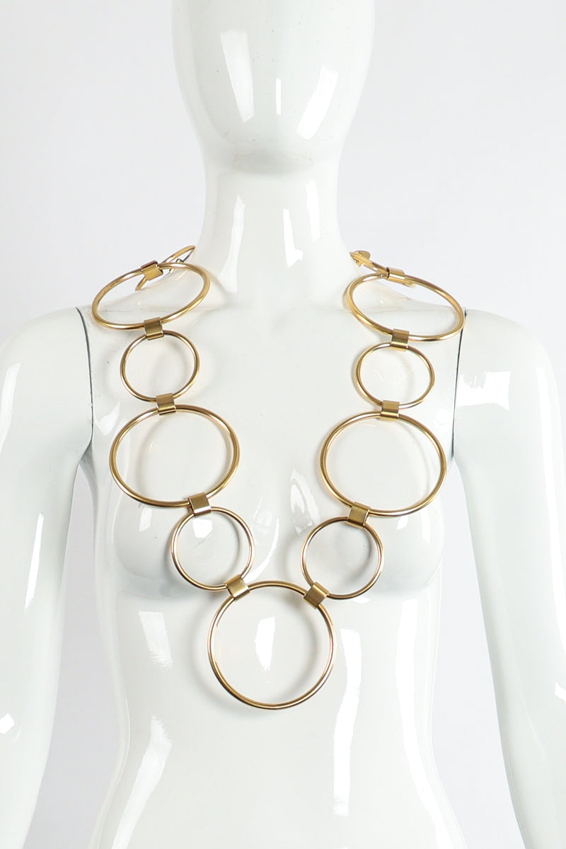 Vintage Gold O-Ring Chain Belt Necklace on Mannequin at Recess Los Angeles