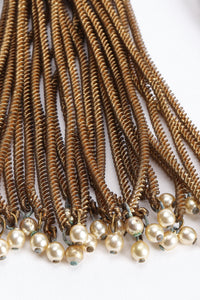 Vintage Pearl Chain Tassel Earrings oxidation at Recess Los Angeles