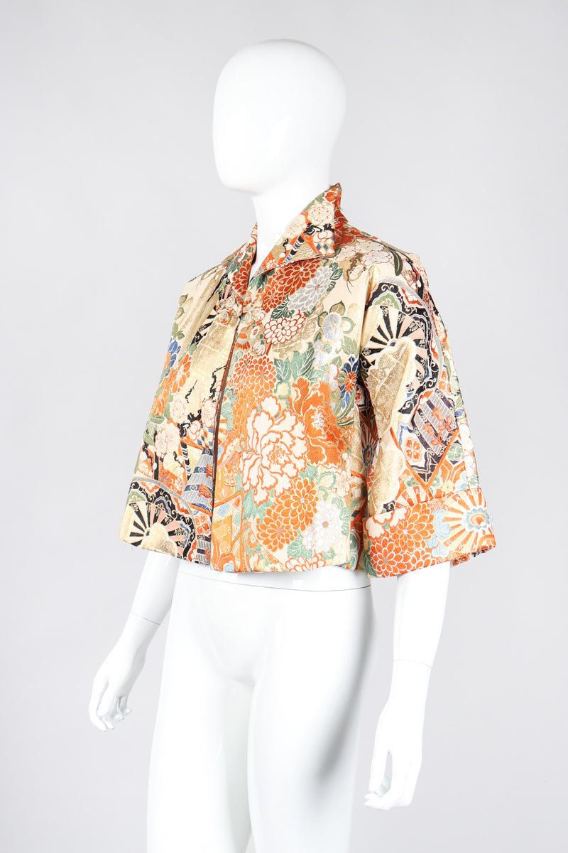 Recess Los Angeles Vintage Japanese Brocade Kimono Crop Jacket