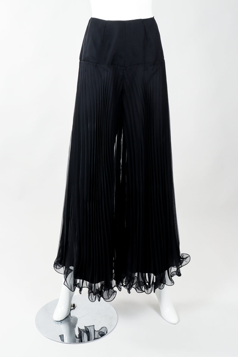 Vintage Bullocks Wilshire Pleated Chiffon Palazzo Pant on Mannequin at Recess