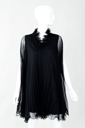 Vintage Bullocks Wilshire Pleated Chiffon Swing Top Minidress on Mannequin at Recess