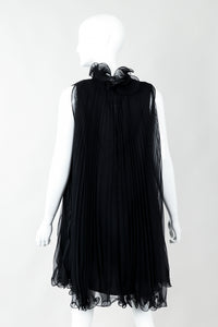 Vintage Bullocks Wilshire Pleated Chiffon Swing Top Minidress Back on Mannequin at Recess