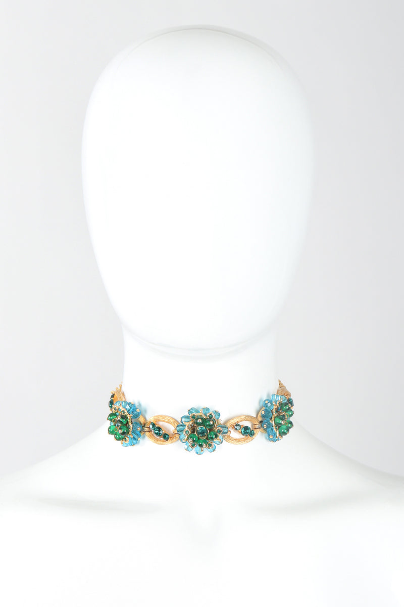 Recess Designer Consignment Vintage Ocean Flower Choker Collar Necklace Los Angeles Resale