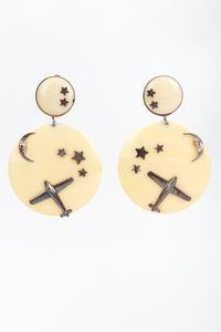 Recess Los Angeles Vintage Drops of Jupiter Flying Over The Moon Earrings