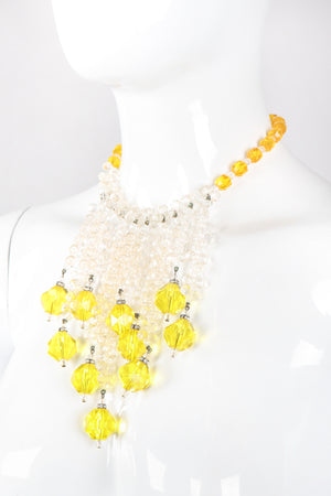 Recess Los Angeles Vintage Lemon Drops Waterfall Crystal Bead Necklace